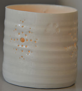 Blizzard Tea Light Holder - candles & candlesticks