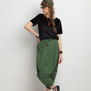 Bazaar Harem Culottes Trousers - women's fashion