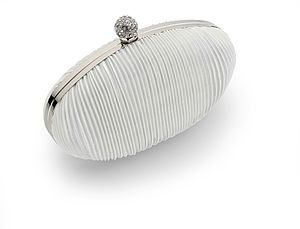 Audrey Vintage Pleated Satin Clutch Bag