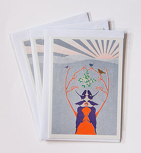 Pack Of Three Christmas Cards - cards & wrap
