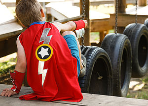 Lightening Bolt Superhero Cape