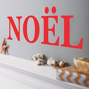 Personalised Wording Wall Sticker - christmas wall stickers