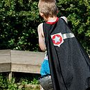 Superhero Star Cape Black