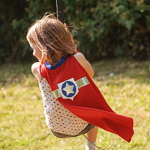 Superhero Star Cape Red