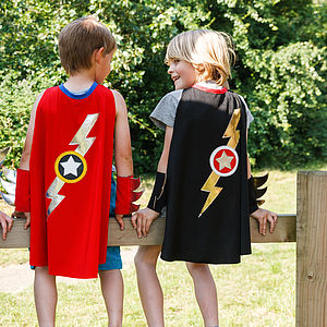 Lightening Flash Cape Black - fancy dress