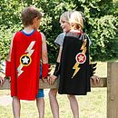 Lightening Flash Cape Black Or Blue Or Red