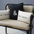 Personalised 'Mr & Mrs' Cushion Cover Set