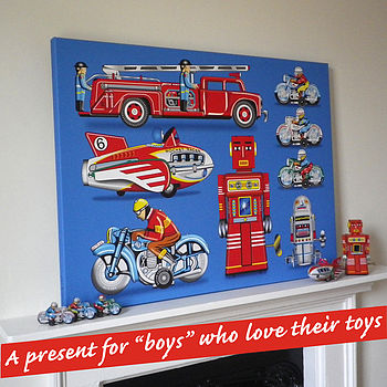 Tin Toy Art Picture Canvas Print
