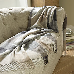 Luxury Alpaca Check Throw - bedding & accessories