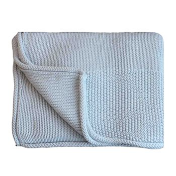 New Baby's Super Soft Cotton Blanket/Shawl Blue