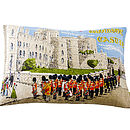 1950s Upcycled Vintage Windsor Castle Cushion