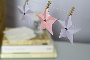 Paper Star Decorations - bunting & garlands