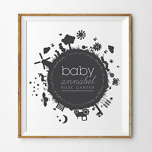'Baby Bomb' Personalised New Baby Print