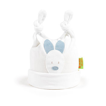 BLUE & WHITE BUNNY HAT