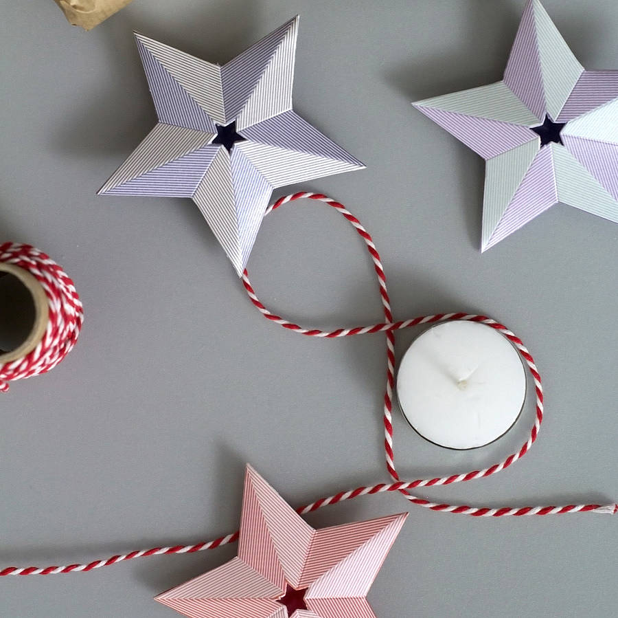 Paper Christmas Star Decorations Set By Another Studio