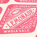Victorian Lemonade Tea Towel - Coral