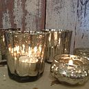 Fluted Silver Votive