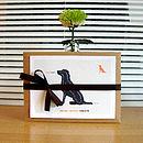 kraft gift box with labrador retriever notecards