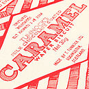 Tunnock's Caramel Wafer Wrapper Tea Towel - Close-Up
