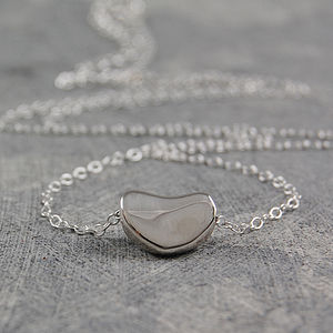 Bean Sterling Silver Necklace - women's jewellery