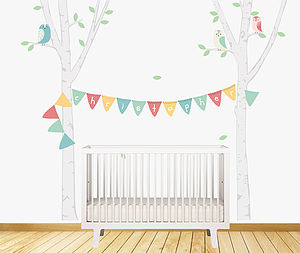 Birch Tree Bunting Wall Stickers - wall stickers