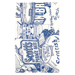 'Scottish Breakfast' Tea Towel