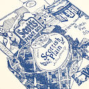 'Scottish Breakfast' Tea Towel Close-Up
