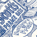 'Scottish Breakfast Zoom' Tea Towel Close-Up