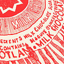 'Tunnock's Teacake' Tea Towel Close-Up