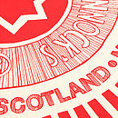 'Tunnock's Teacake Wrapper' Tea Towel Close-Up