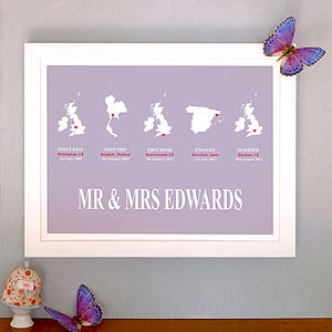 'Quintet Love Story' Personalised Print
