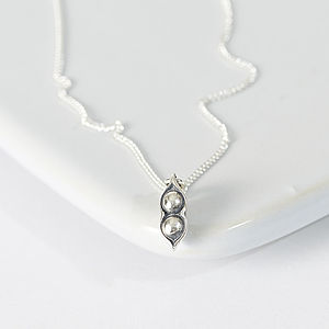 Two Peas In A Pod Necklace - women's jewellery