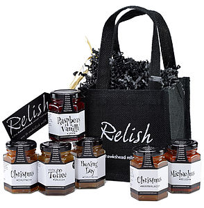 Holly Jolly Six Jar Gift Bag - christmas parties & entertaining