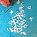 Personalised Christmas Tree Papercut