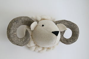 Felt Ram Head - pictures & prints for children