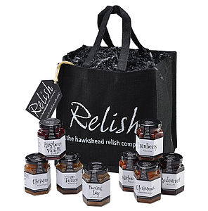 Ding Dong Relish Eight Jar Gift Bag - christmas parties & entertaining