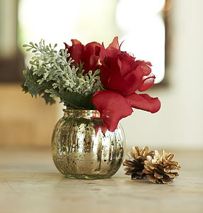 Christmas Table Decoration - flowers & plants