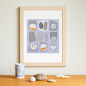 Skimming Stones Signed Giclee Print - children's room