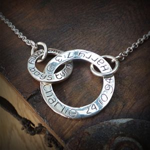 Personalised Entwined Ring Necklace - women's jewellery