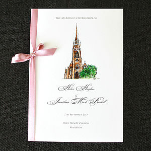 Illustrated Order Of Service - wedding stationery