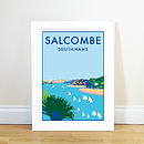 Salcombe Vintage Style Seaside Poster