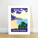 South Hams Blackpool Sands Vintage Style Poster