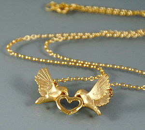 Gold Love Dove Necklace
