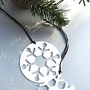 Set Of Two Snowflake Decorations