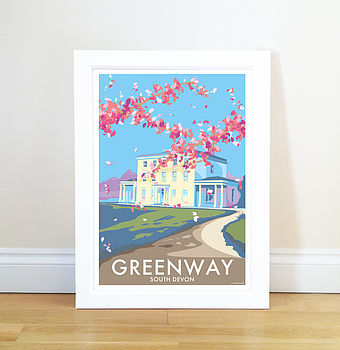Greenway House Vintage Style Seaside Poster