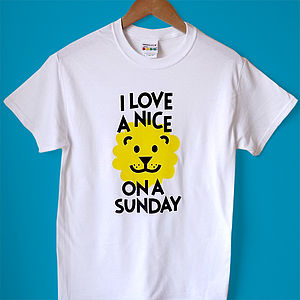 Lion T Shirt 'I Love A Nice Lion' Mens Tee