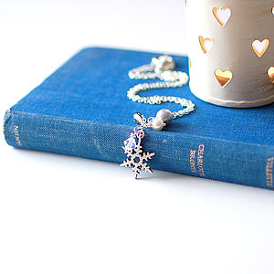 Snowflake Charm Necklace - necklaces & pendants