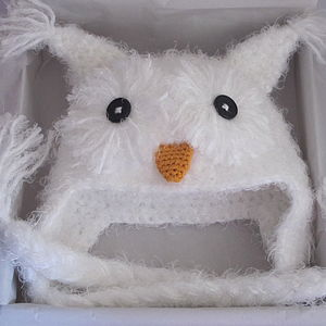 Handmade Snugly Furry Owl Hat - children's accessories