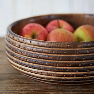 Natural Carved Wooden Bowl - fruit bowls