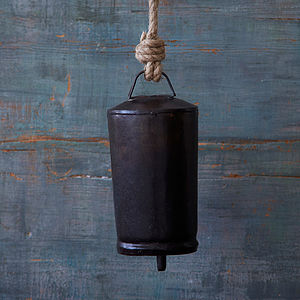 Charcoal Iron Bell - decorative accessories